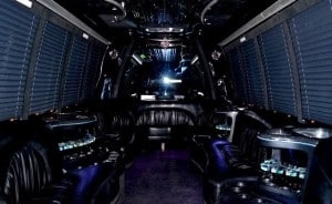 18 - 20 passenger Party Limo Bus interior 1